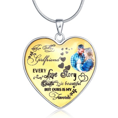 Personalized Love Story Photo Necklace
