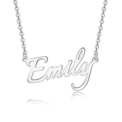 Personalized Name Necklace in Sterling Silver