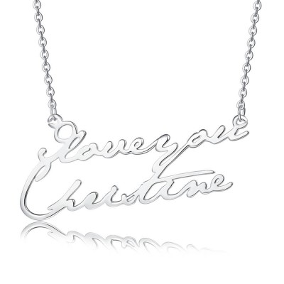 Personalized 2 Name Necklace Customized Name Necklace for Her for Couples