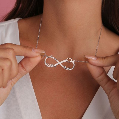 Personalized Infinity Name Necklace with 3 Names
