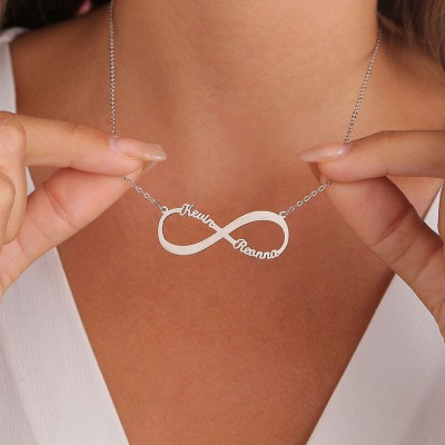 Personalized Infinity Name Necklace with 2 Names