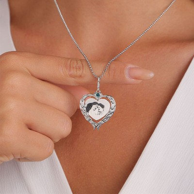 Personalized Love Wings Photo Necklace
