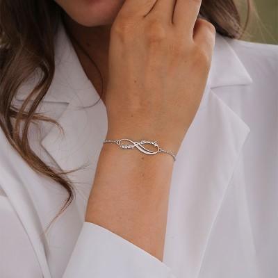 Personalized Infinity Charm Bracelet
