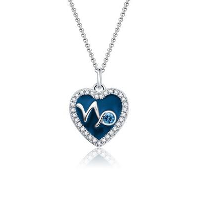 Capricornus - Personalized Heart Photo  Necklace