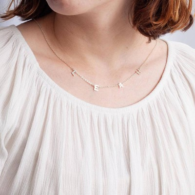Personalized Initial Necklace With 1-10 Initials