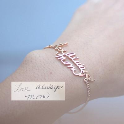 Custom Actual Handwriting Jewelry | Signature Bracelet