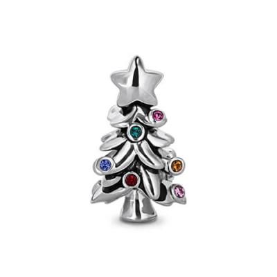 Rhinestones Christmas Tree Charm