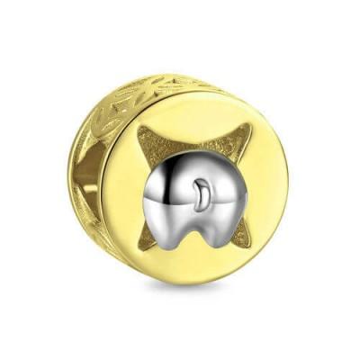 Cute Dog Charm Swarovski Crystal Silver