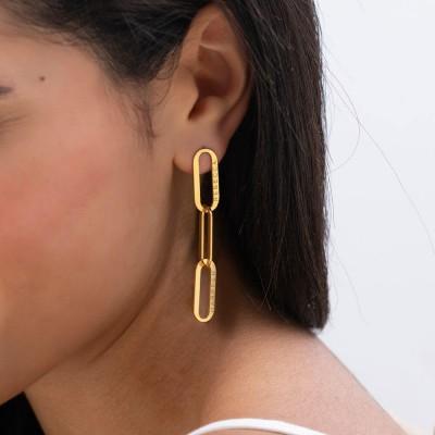 Aria Link Chain Earrings