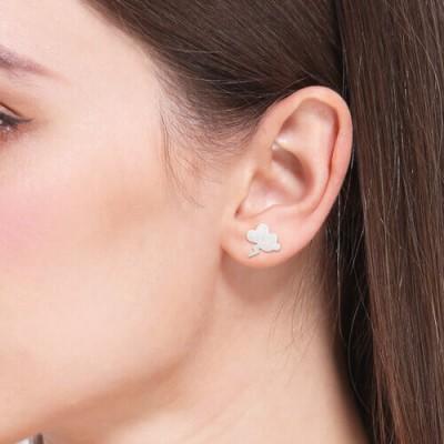 Weather Symbol Dainty Stud Earrings Sterling Silver