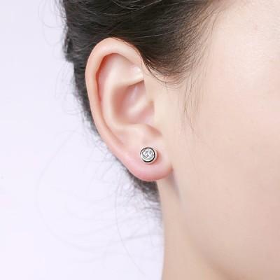 Copper Opal Heart Studs Earring