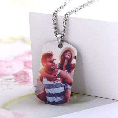 Customize Photo Necklace Best Gift For Husband Boyfriend Dad