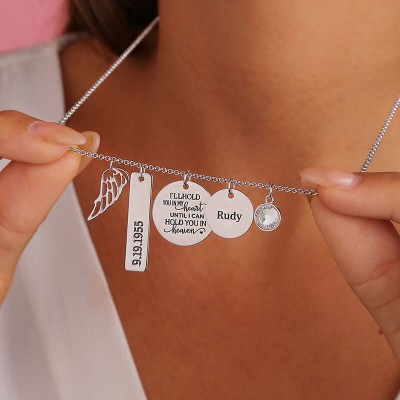 Personalized I'll Hold You In My Heart Memorial Necklace