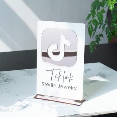 Personalized TikTok Logo Social Media Sign