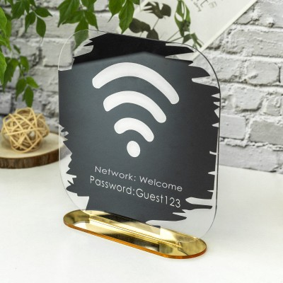 Personalized WiFi Business Social Media Sign